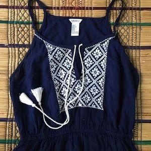 Forever 21 Embroidered Slip Dress